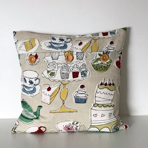 Shabby Chic Tea Party Cushion Cover SALE! FREE P & P