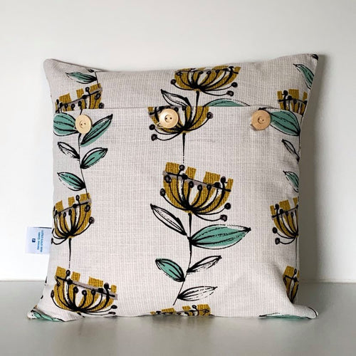 Retro 50's Flower Cushion Cover SALE! FREE P & P