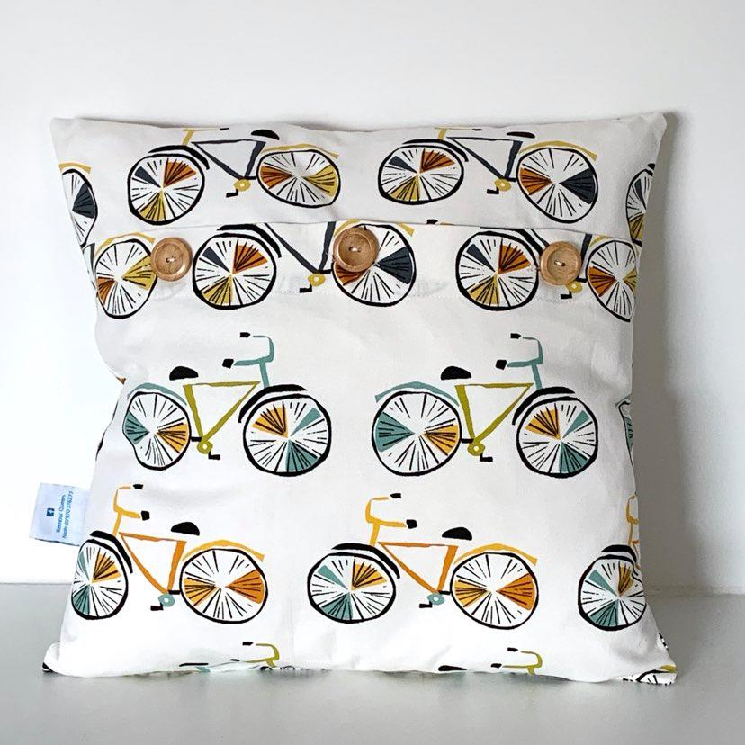 Retro Bicycles Cushion Cover SALE! FREE P & P