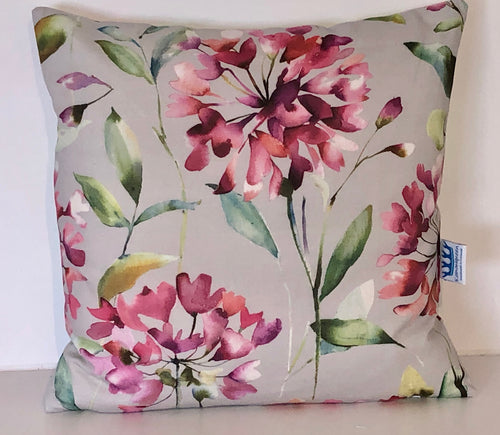 Clovelly Raspberry Cushion