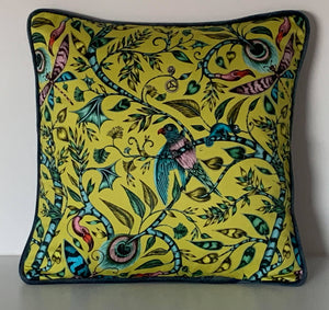 Emma J Shipley Yellow Rousseau Cushion