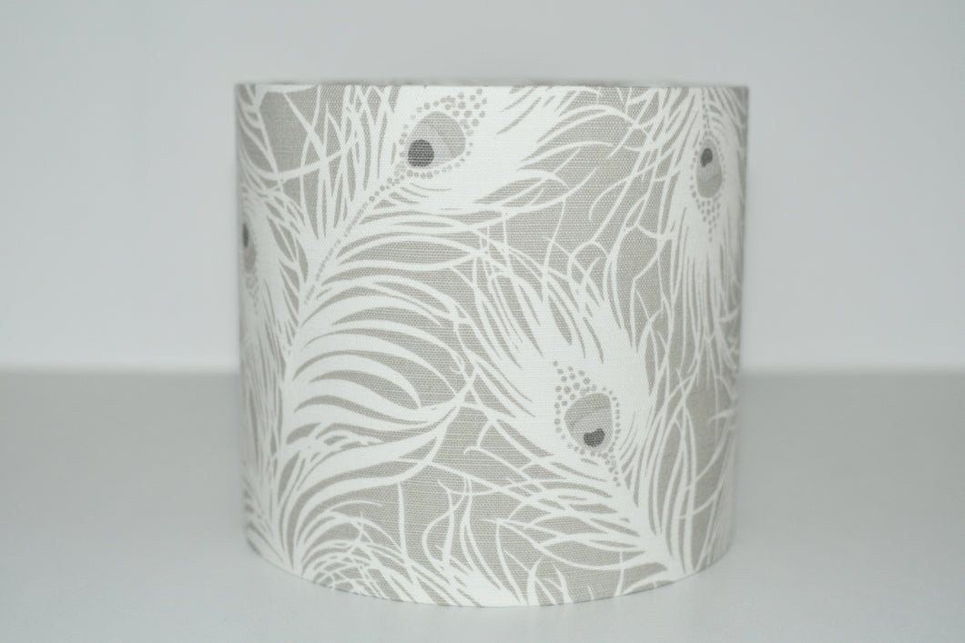 Grey Feathers Lamp Shade