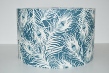 Load image into Gallery viewer, Teal Feathers Lamp Shade