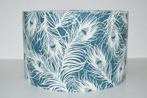 Teal Feathers Lamp Shade