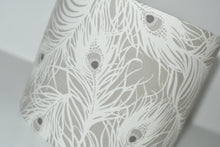 Load image into Gallery viewer, Grey Feathers Lamp Shade