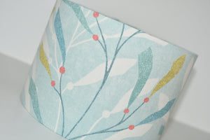 Light Blue Coral Lamp Shade