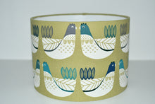 Load image into Gallery viewer, Lime Green Scandi Birds Lamp Shade