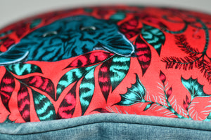 Emma J Shipley Red Animalia Cushion