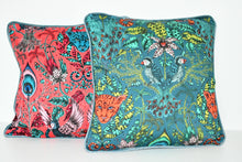 Load image into Gallery viewer, Emma J Shipley Red Animalia Cushion