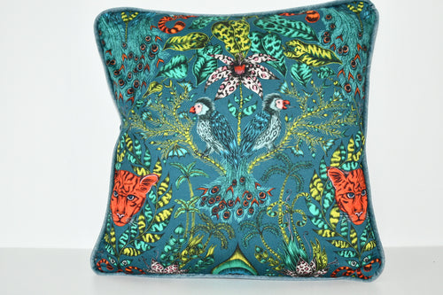 Emma J Shipley Blue Animalia Cushion