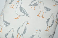 Load image into Gallery viewer, Quirky White Seagull Cushion