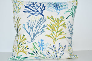 Blue/Green Coral Cushion