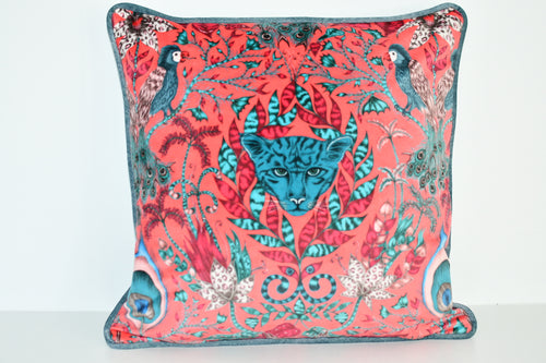 Emma J Shipley Red Velvet Animalia Cushion