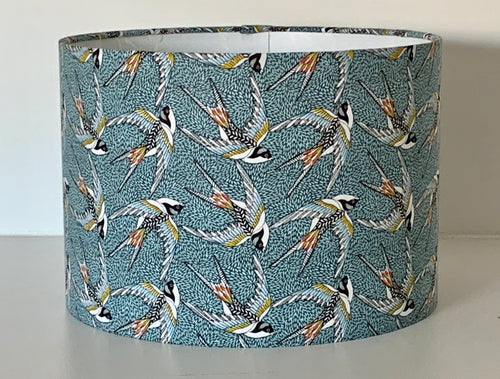 Blue Swallows Lamp Shade