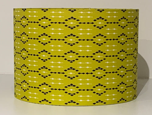 Geometric Yellow Lamp Shade