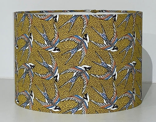 Mustard Swallows Lamp Shade
