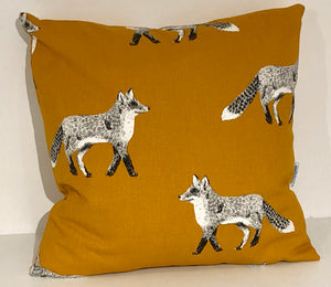 Burnt Orange Fox Cushion