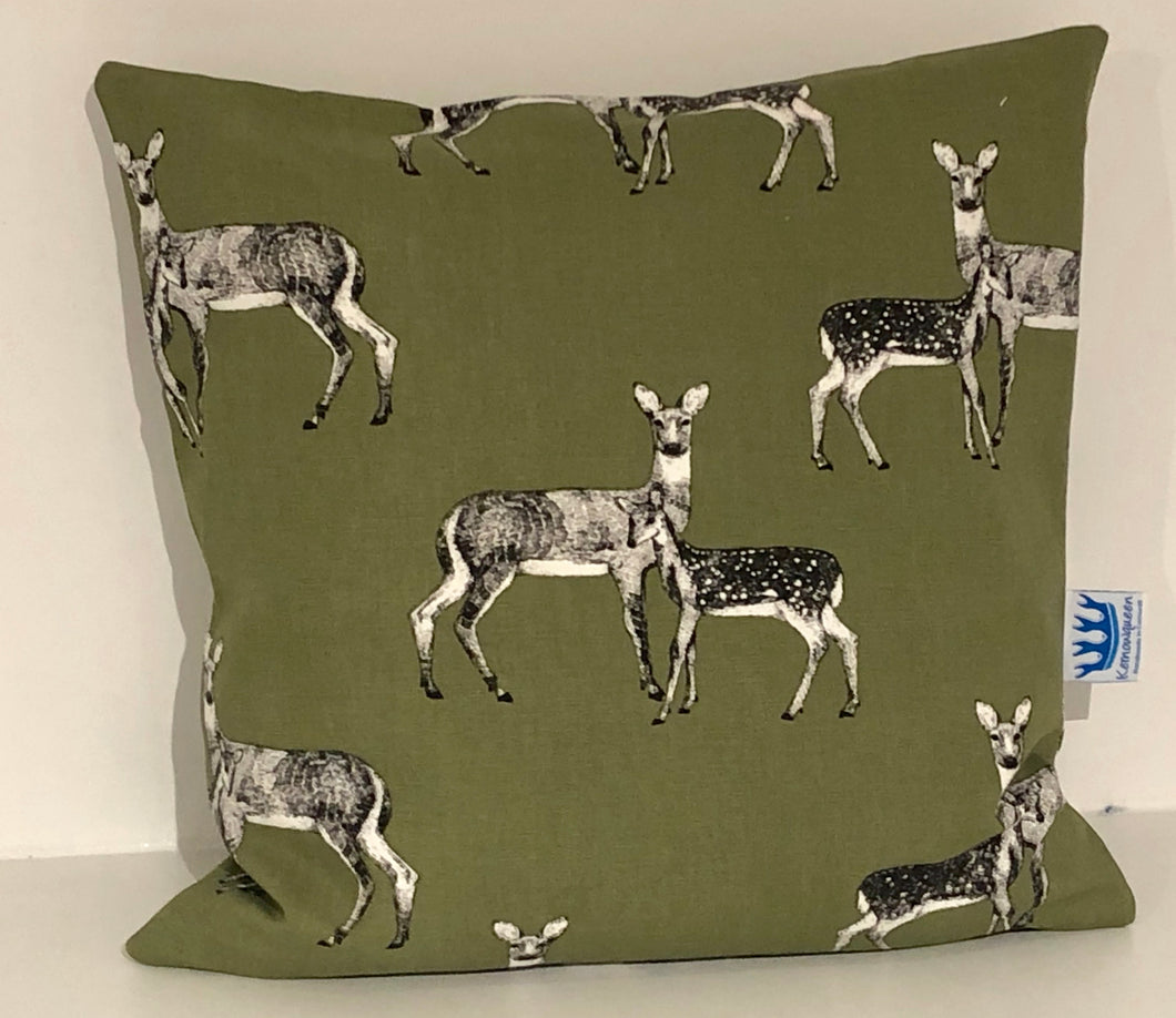 Khaki Green Deer Cushion