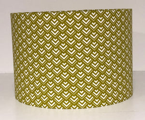 Lime Green Geometric Lamp Shade