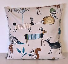 Load image into Gallery viewer, Woodland Animals Cushion