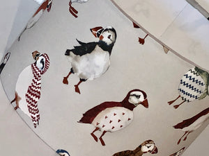 Cream Puffin Lamp Shade