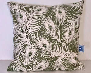 Olive Feathers Cushion