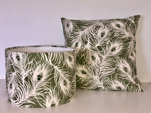 Load image into Gallery viewer, Olive Feathers Cushion