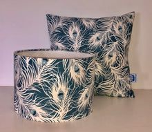 Load image into Gallery viewer, Teal Feathers Cushion