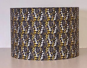Charcoal Leaves Lamp Shade