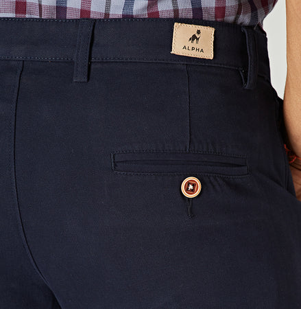 Dark Navy Blue Tapered Chinos