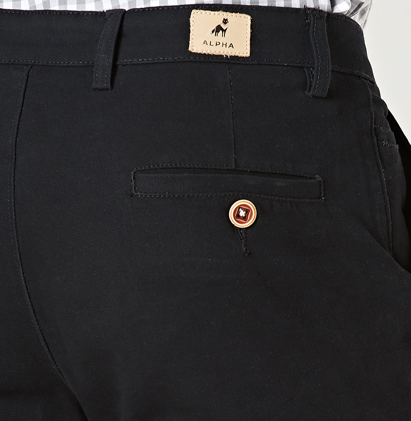 Black Tapered Chinos