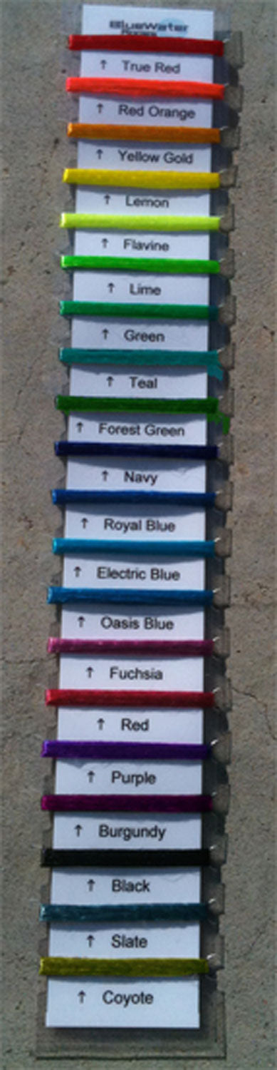 BlueWater Cords Colour Swatch