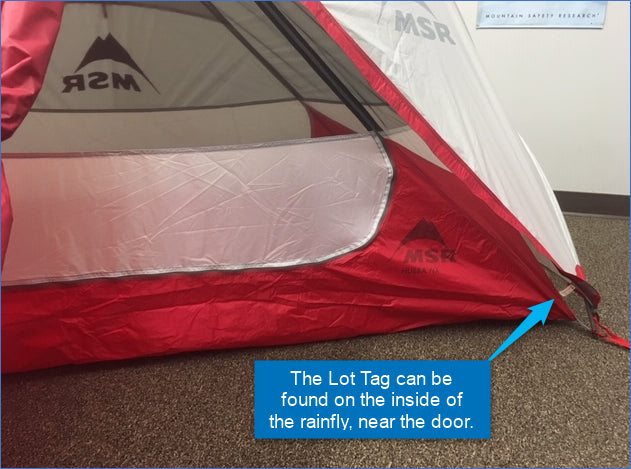 Find the Lot Tag on the fly near the door