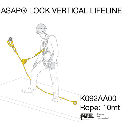 PETZL - ASAP LOCK VERTICAL LIFELINE Kit