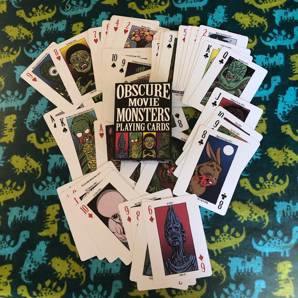 Obscure Movie Monster Playing Cards
