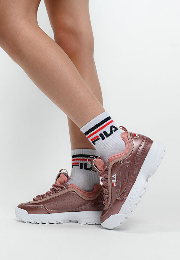 Fila - Disruptor MM Low Basket Femme - Ash Rose Gold