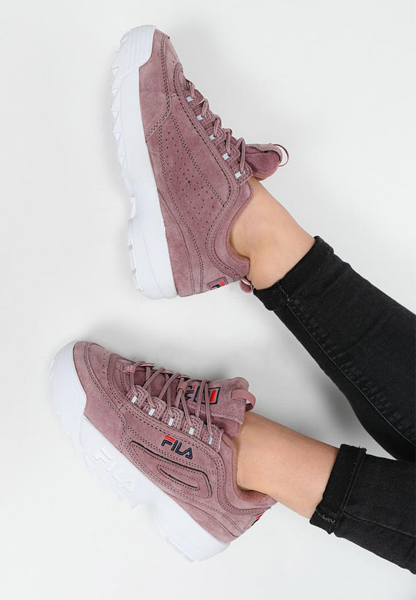 Fila - Disruptor Suede Low Basket Femme - Ash Rose