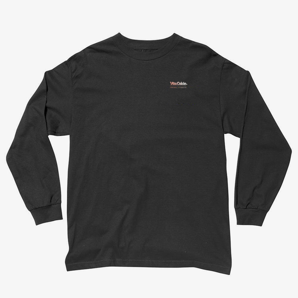 ON AND OFF THE PITCH SINCE 2015 LONG SLEEVE T BLACK