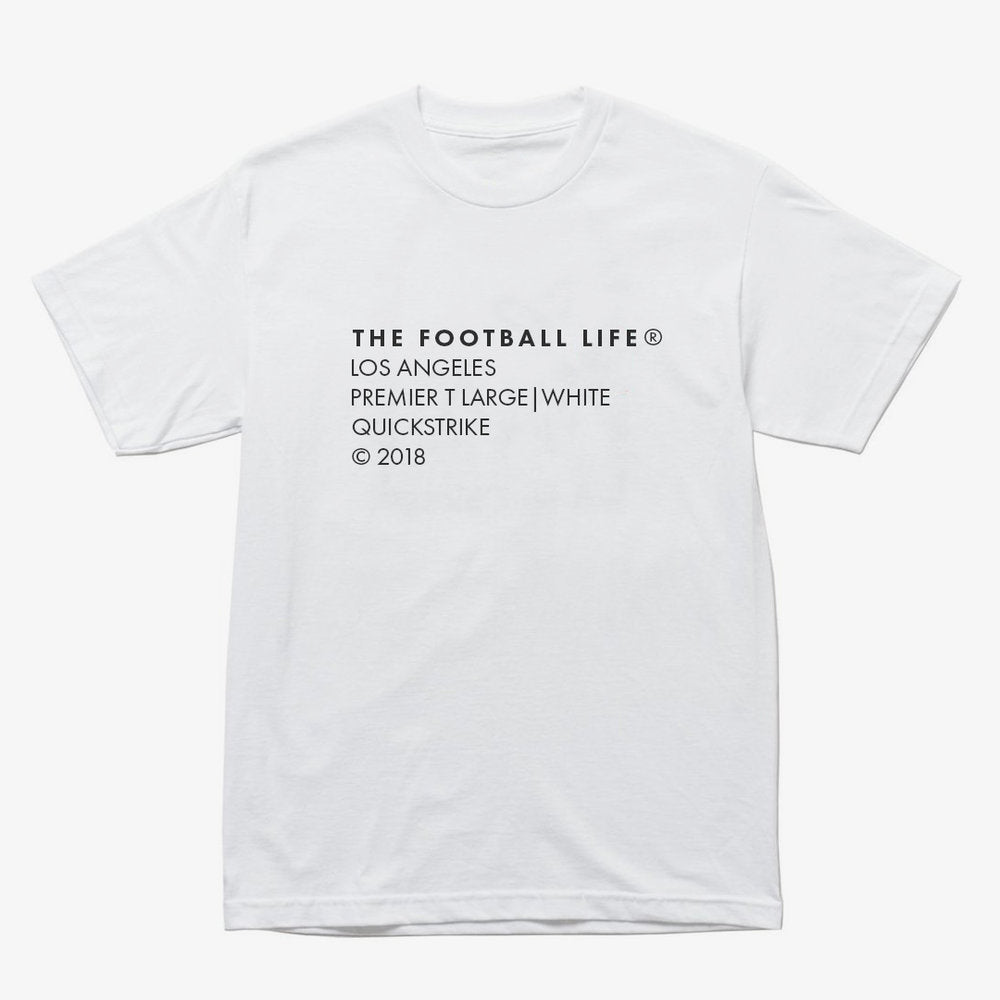 THE FOOTBALL LIFE® QUICKSTRIKE T WHITE PREMIER [THIN]