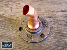 Load image into Gallery viewer, Miss Artisan - 15m Copper Pipe 45 Degree Flange - Rustic / Industrial / Vintage Handmade Furniture