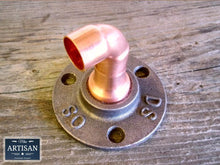 Load image into Gallery viewer, Miss Artisan - 15m Copper Pipe Elbow Flange - Rustic / Industrial / Vintage Handmade Furniture