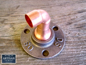 15m Copper Pipe Elbow Flange - Miss Artisan