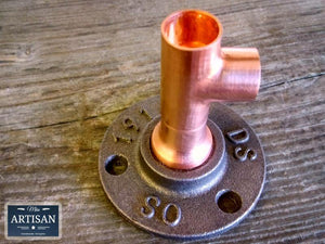 15m Copper Pipe Side Tee Flange - Miss Artisan