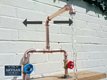 Load image into Gallery viewer, Copper Pipe Double Sink Mixer Swivel Taps