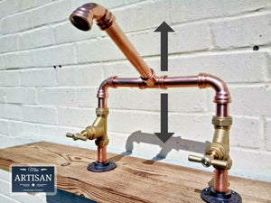 Miss Artisan - Copper Pipe Swivel Mixer Taps - Rustic / Industrial / Vintage Handmade Furniture