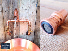 Load image into Gallery viewer, 22mm Copper Aerators - Fits All Our Copper Pipe Taps - Miss Artisan