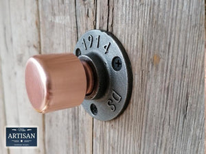Miss Artisan - Copper Pipe Knob Handles - Rustic / Industrial / Vintage Handmade Furniture