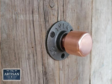 Load image into Gallery viewer, Miss Artisan - Copper Pipe Knob Handles - Rustic / Industrial / Vintage Handmade Furniture