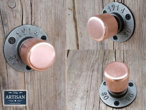 Copper Pipe Knob Handles - Miss Artisan