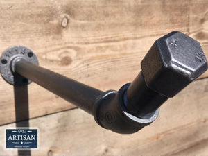 Angled Cast Iron / Steel Clothes Rail - Wall Mounted - Miss Artisan